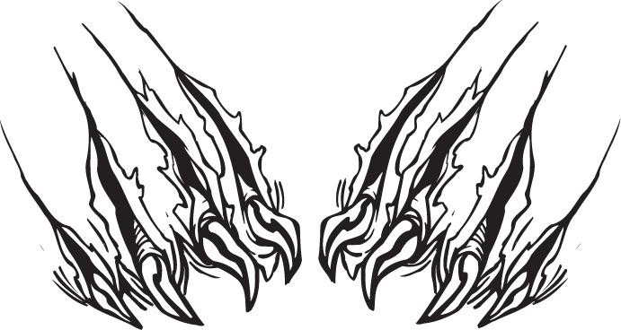 Lion Claw Marks Clipart.