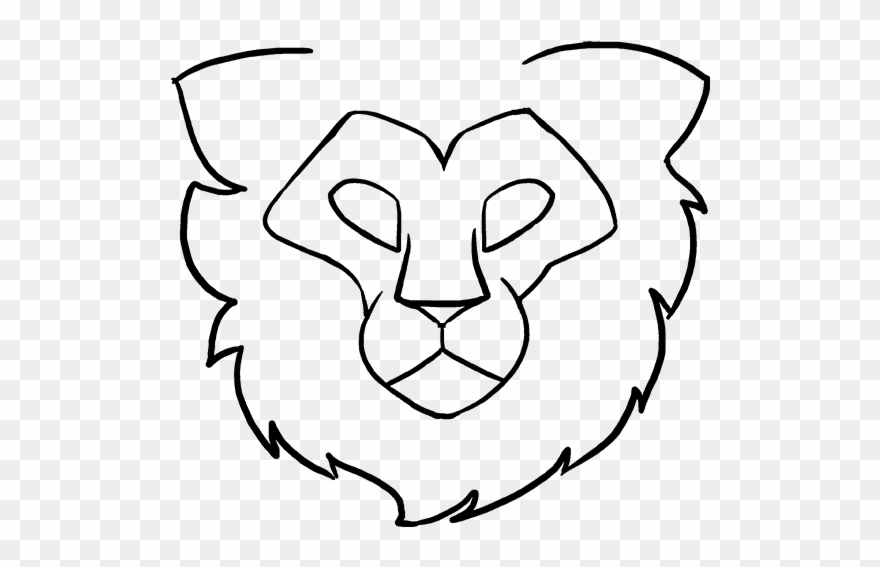 How To Draw Lion Head.
