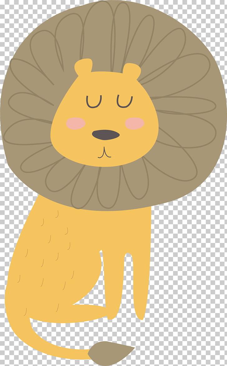 Lion Vecteur Computer file, cute little lion PNG clipart.