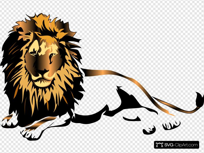 Lion Clip art, Icon and SVG.