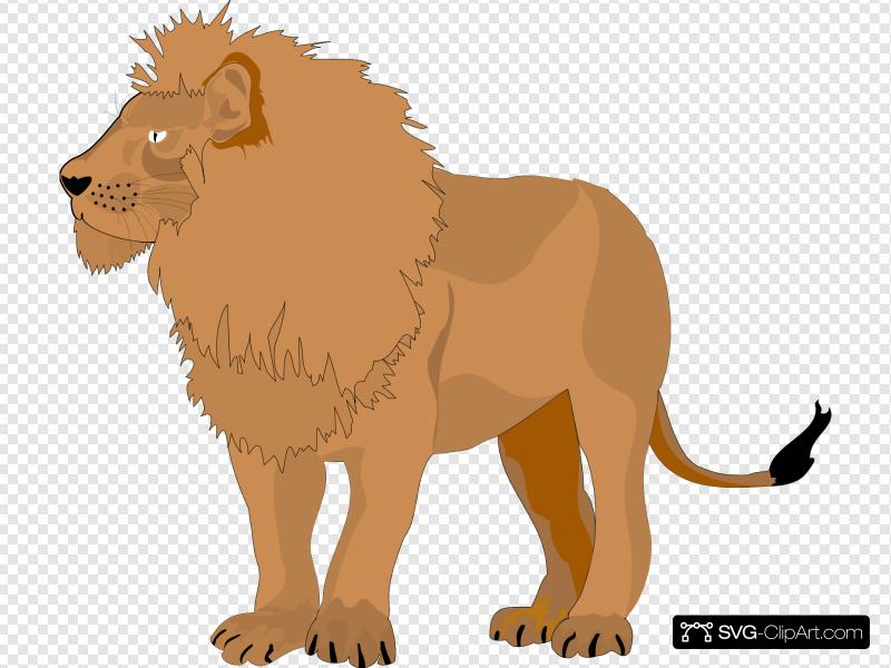Brown Lion Clip art, Icon and SVG.