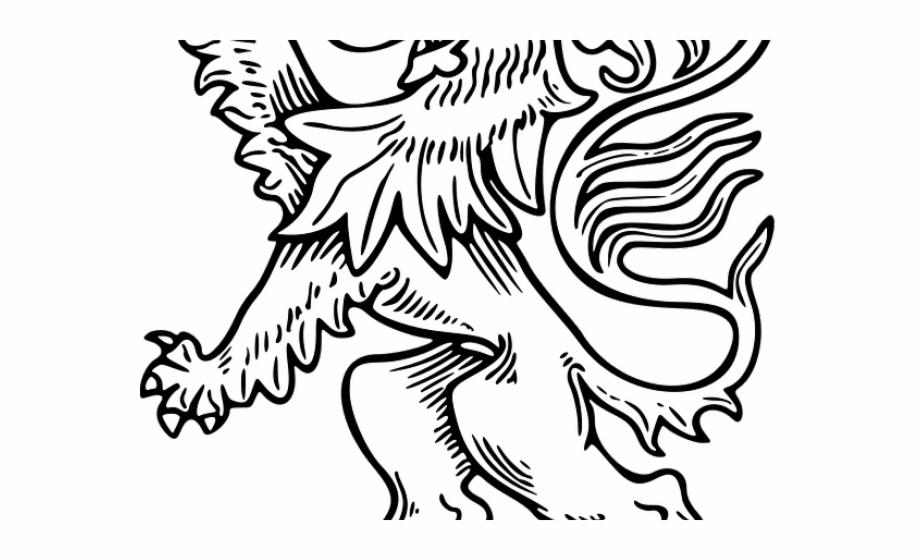 White Lion Clipart Lion Outline.