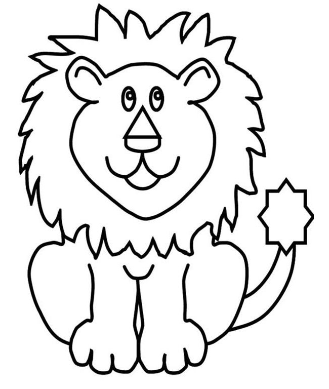 Lion Outline Drawing at GetDrawings.com.
