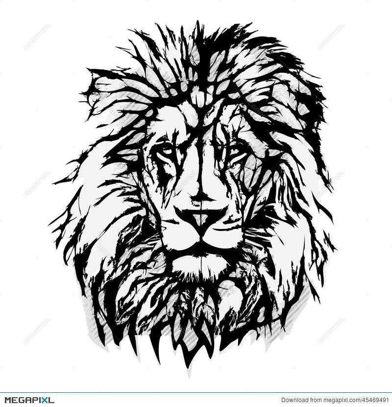 Lion Head Graphic.