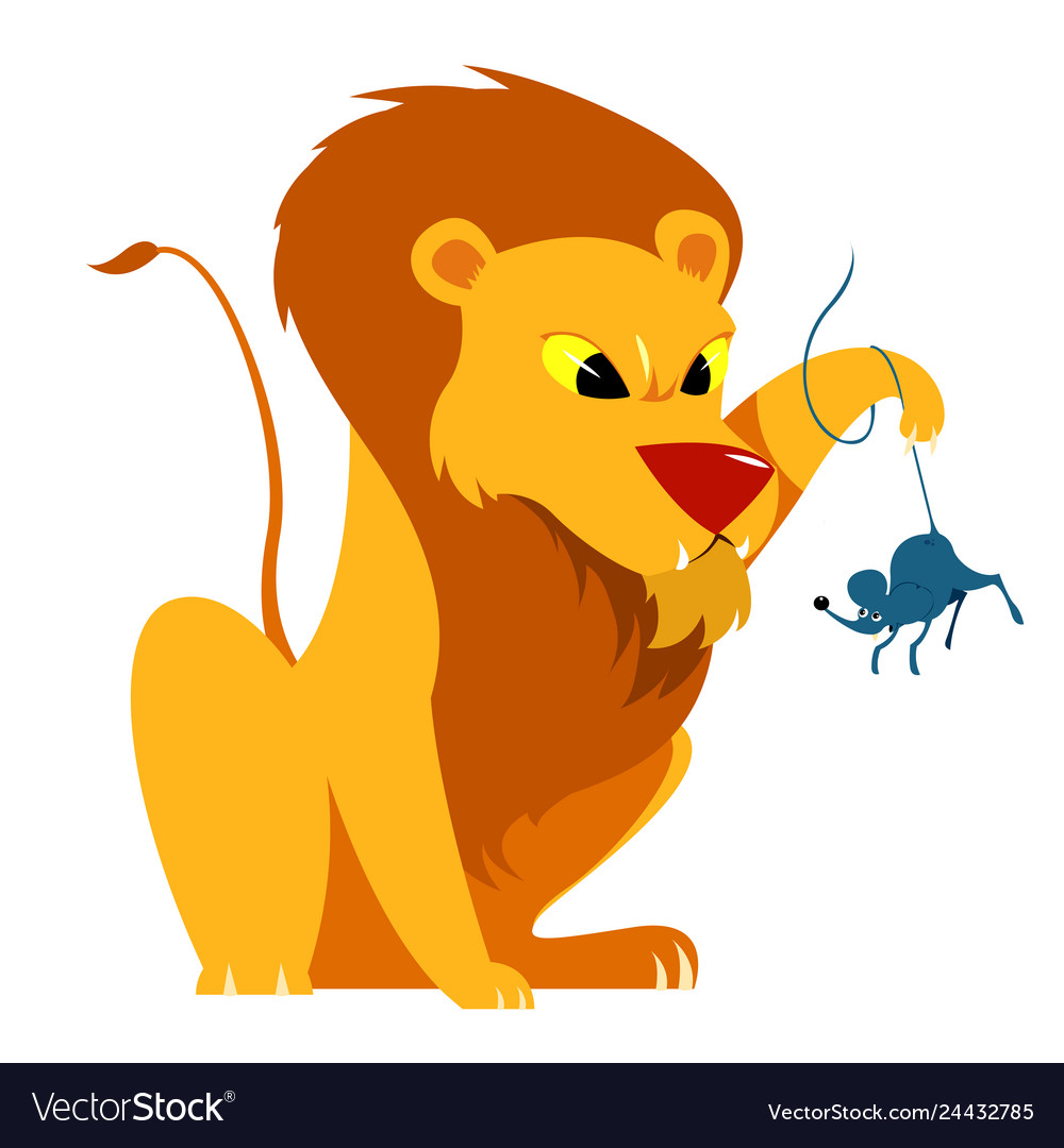 The lion and the mouse tale.