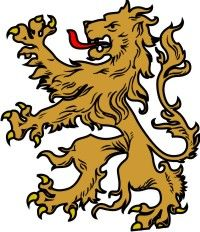 lion from family crest.