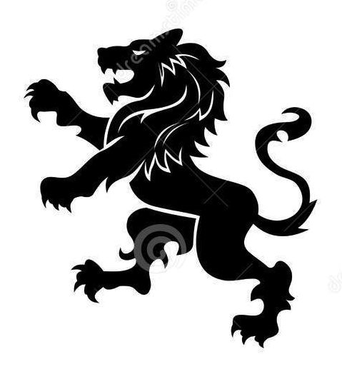 Coat Of Arms Lion Silhouette.