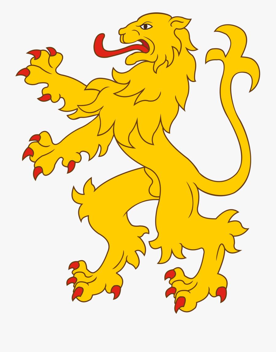 Clip Art Heraldry Lion.