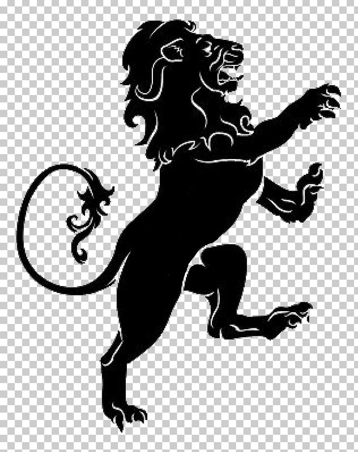 Lion Heraldry PNG, Clipart, Animals, Art, Black, Black And.