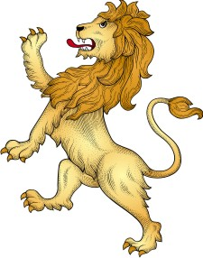 Advanced lion clipart for custom coat of arms.