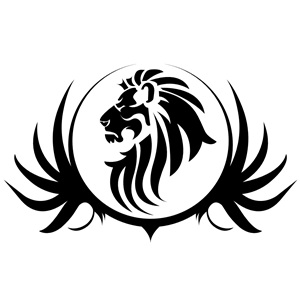 Black Lion Crest clipart, cliparts of Black Lion Crest free.