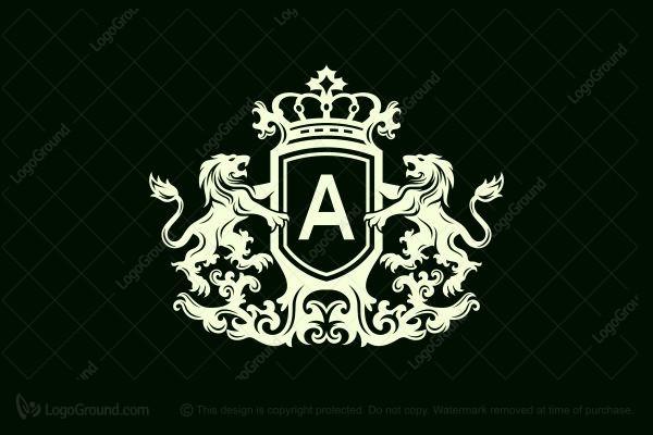 Exclusive Logo 143027, Heraldry Shield Lion Logo.