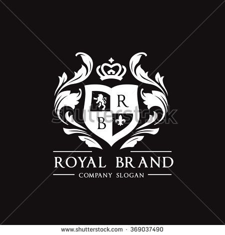 Royal Brand Logo,Crown logo,Lion Logo,Crest logo,Vector logo.