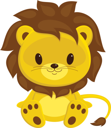 Lion Cub Clip Art, Vector Images & Illustrations.