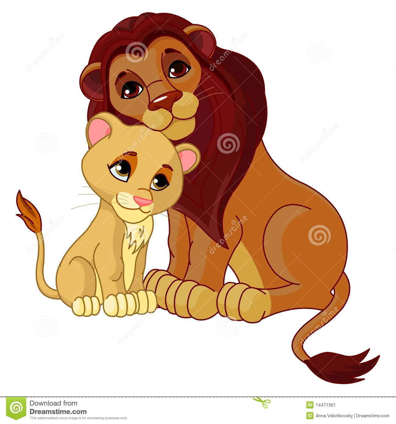 Lion Cub Stock Illustrations.