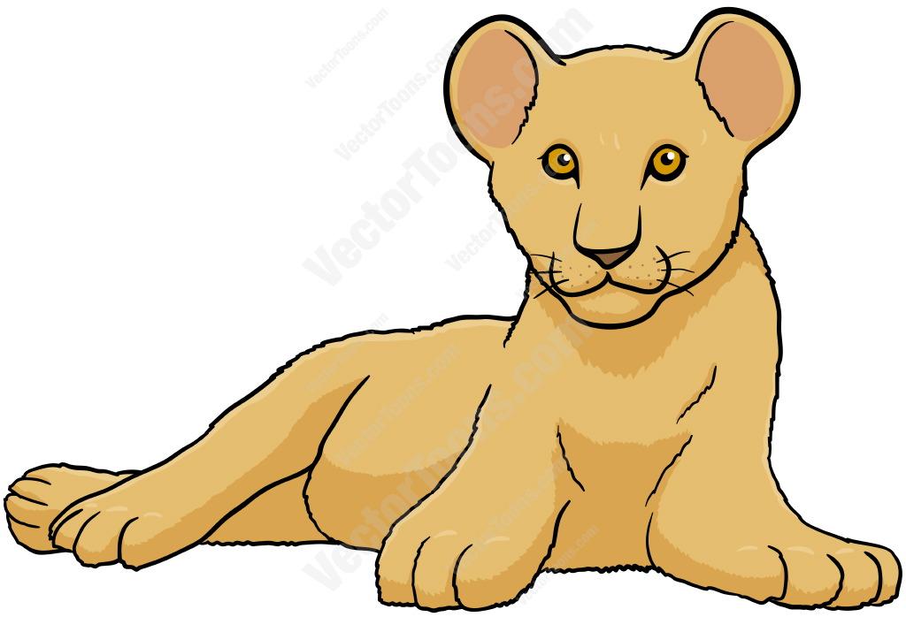 Lion cub clipart images.