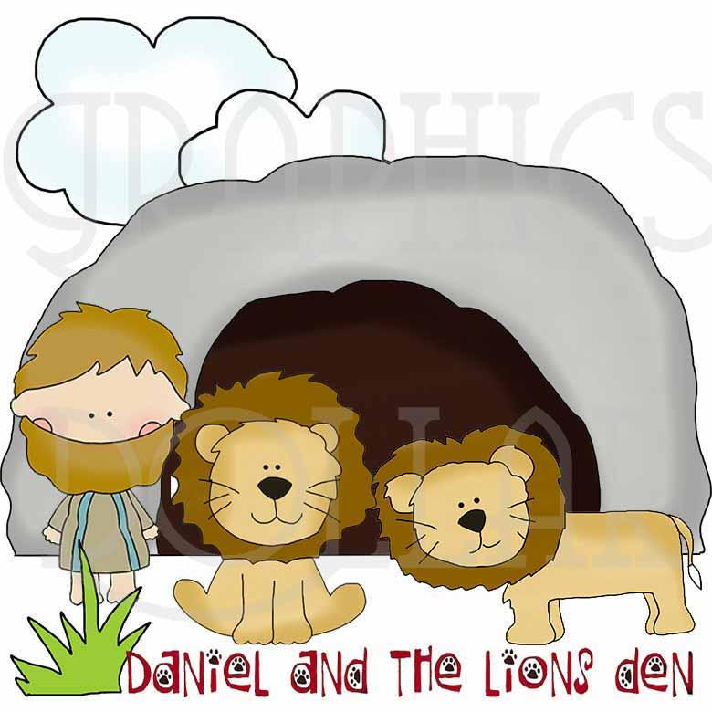 Daniel in the Lion\'s Den Clip Art.