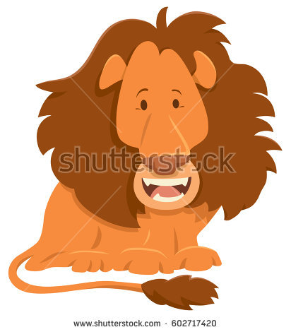 lion eating clipart #9