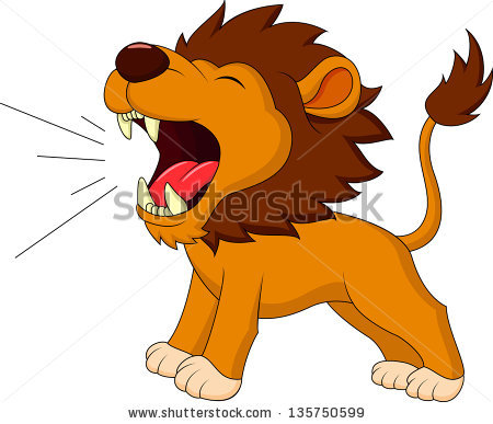 lion eating clipart #5