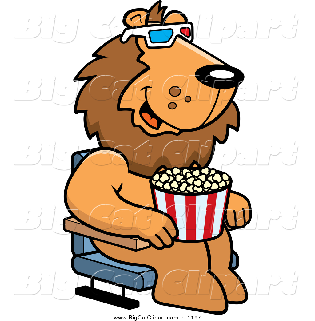 lion eating clipart #3