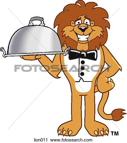 lion eating clipart #19