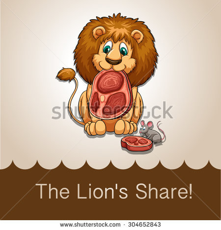 Lion Eating Stock Images, Royalty.