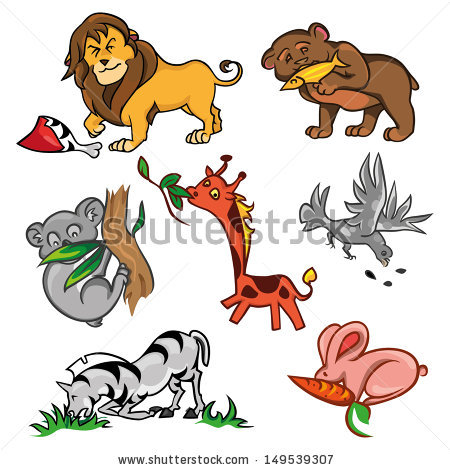 lion eating clipart #14