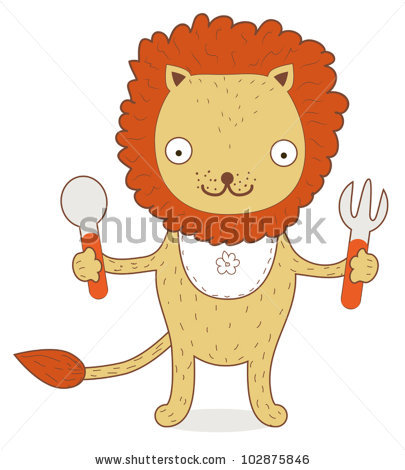 lion eating clipart #12