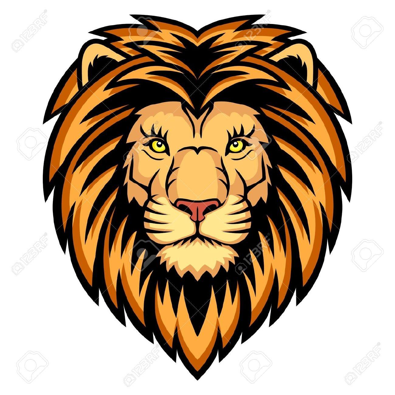 Clipart lion face.