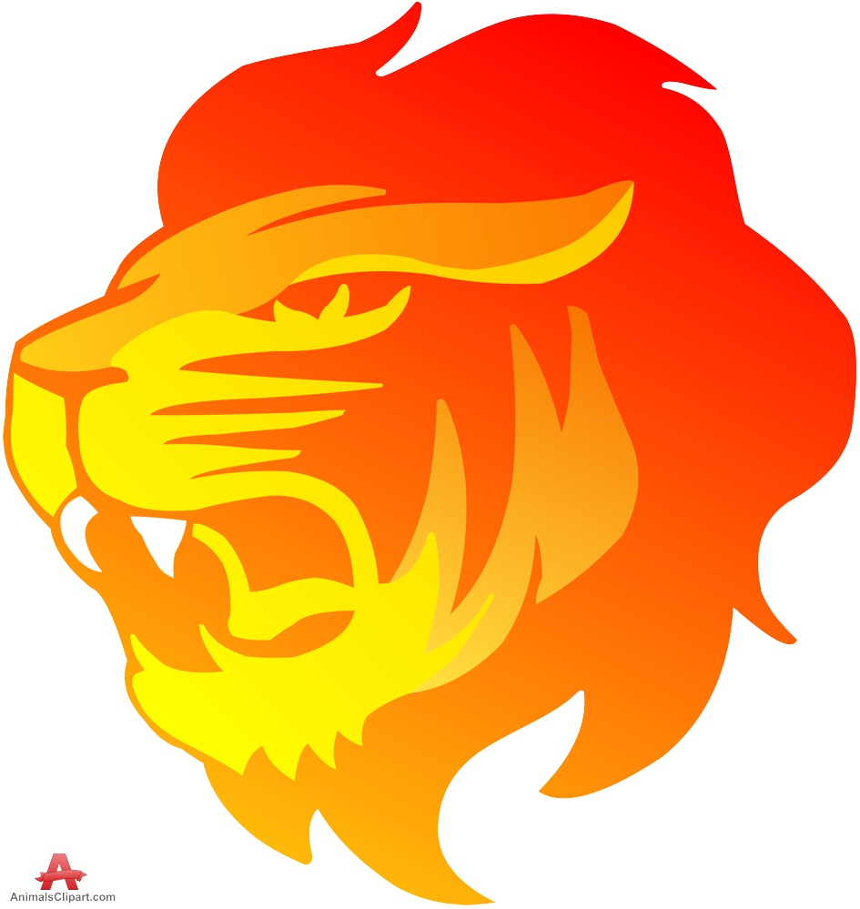 Strong Lion Face Clipart.