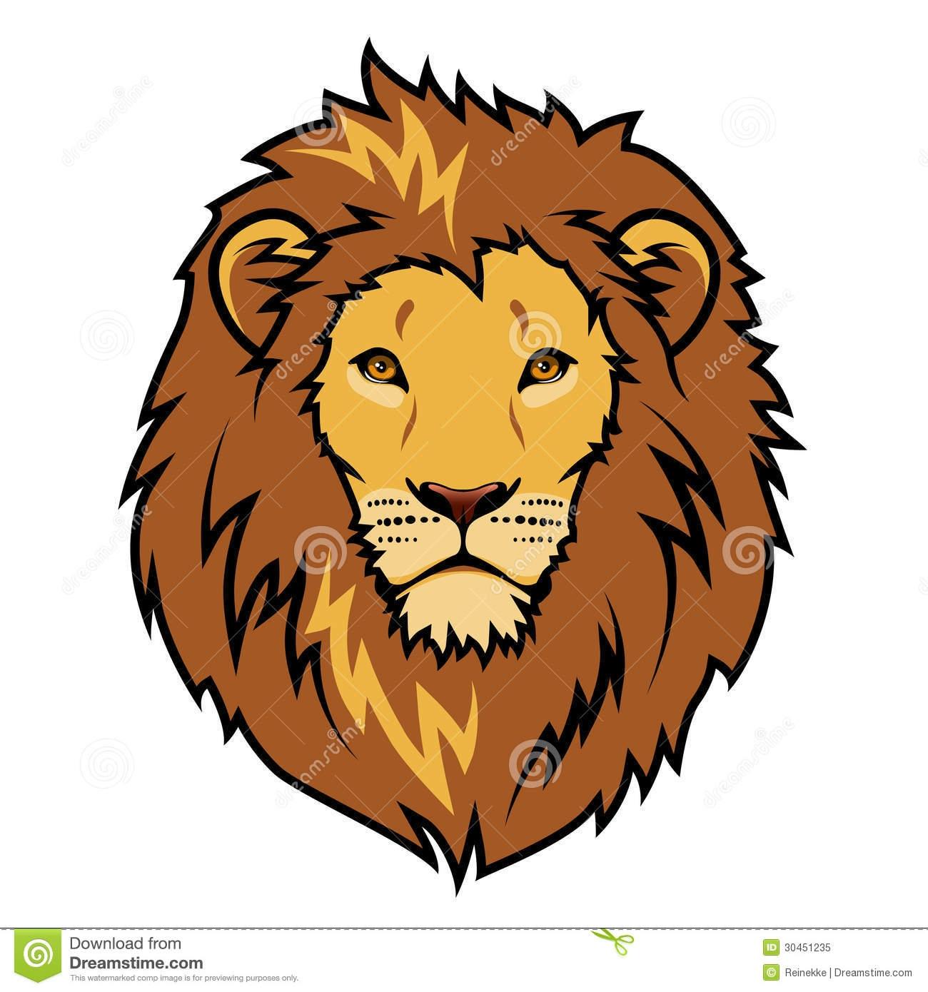 Lion face clipart simple.