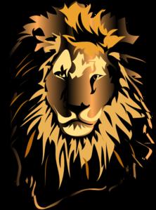 Lion head bmp color clipart.
