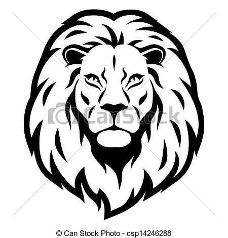 Lion face clipart simple.
