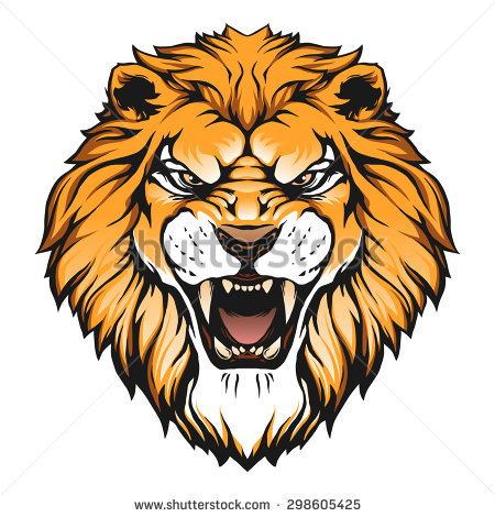 Lion face roar clipart.