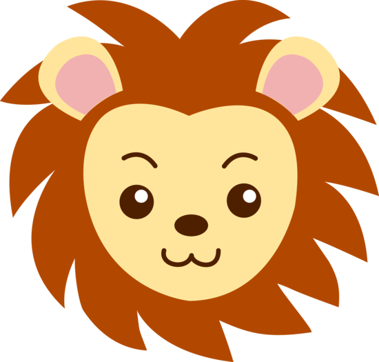 Cute Lion Face.