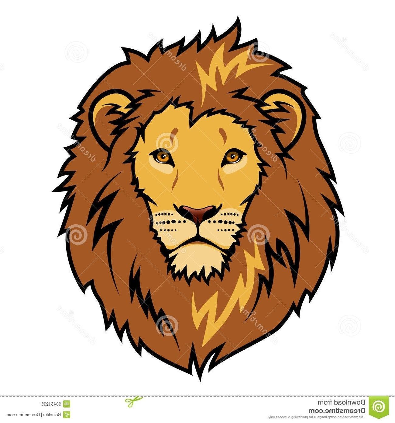 Lion Face Clipart #108015 throughout Simple Lion Head.