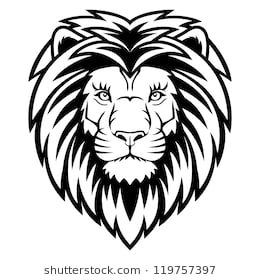 Lion face clipart black and white 3 » Clipart Station.