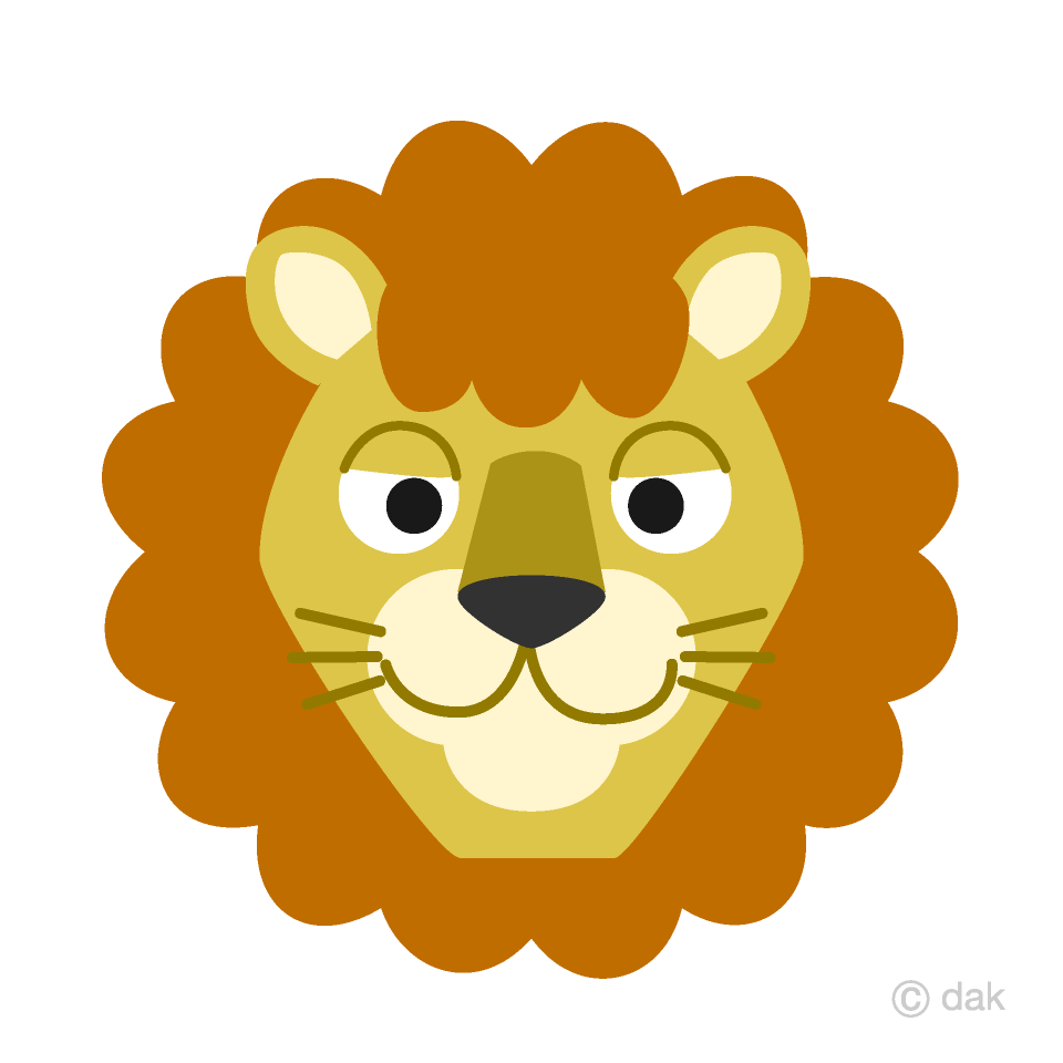 Free Friendly Lion Face Clipart Image|Illustoon.