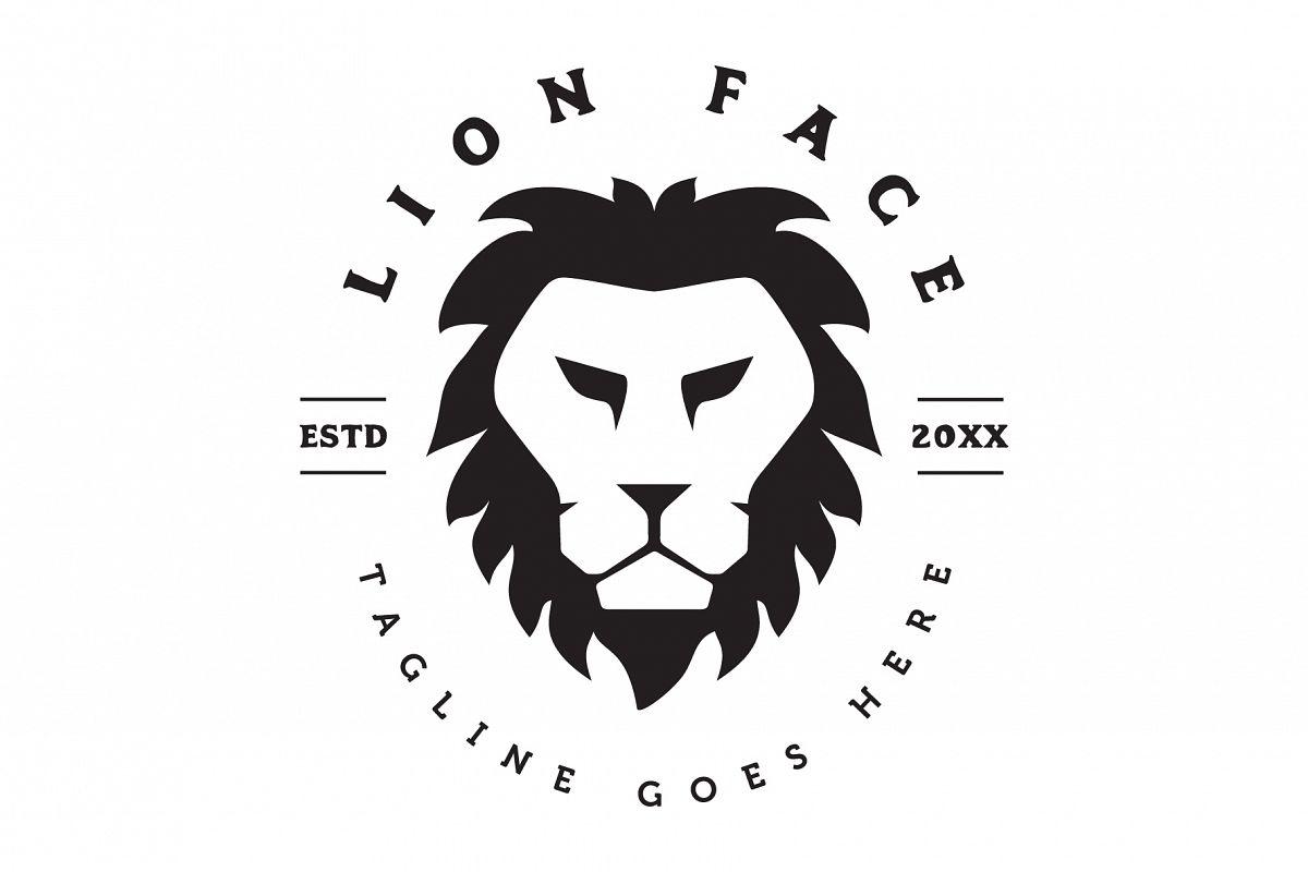 Lion Face Logo.