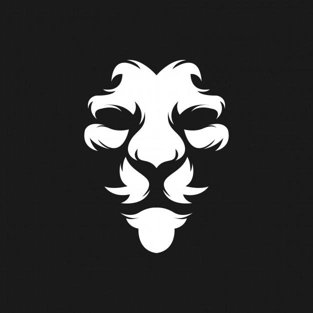 Lion face logo design Vector.