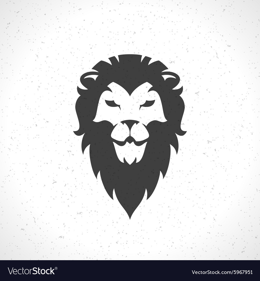 Lion face logo emblem template for business or t.