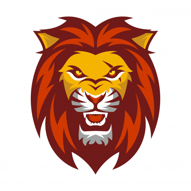 A lion head logo Vector.