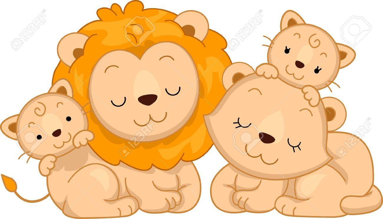leones animados enamorados.