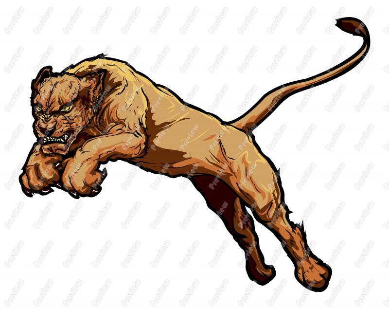 Female Lion Character Clip Art.