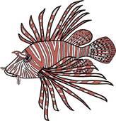 Clip Art of Lionfish u12113719.