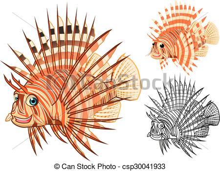 Lionfish Vector Clipart Illustrations. 124 Lionfish clip art.