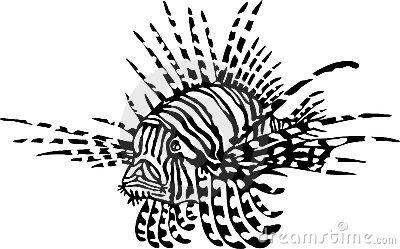Lion Fish Clipart.