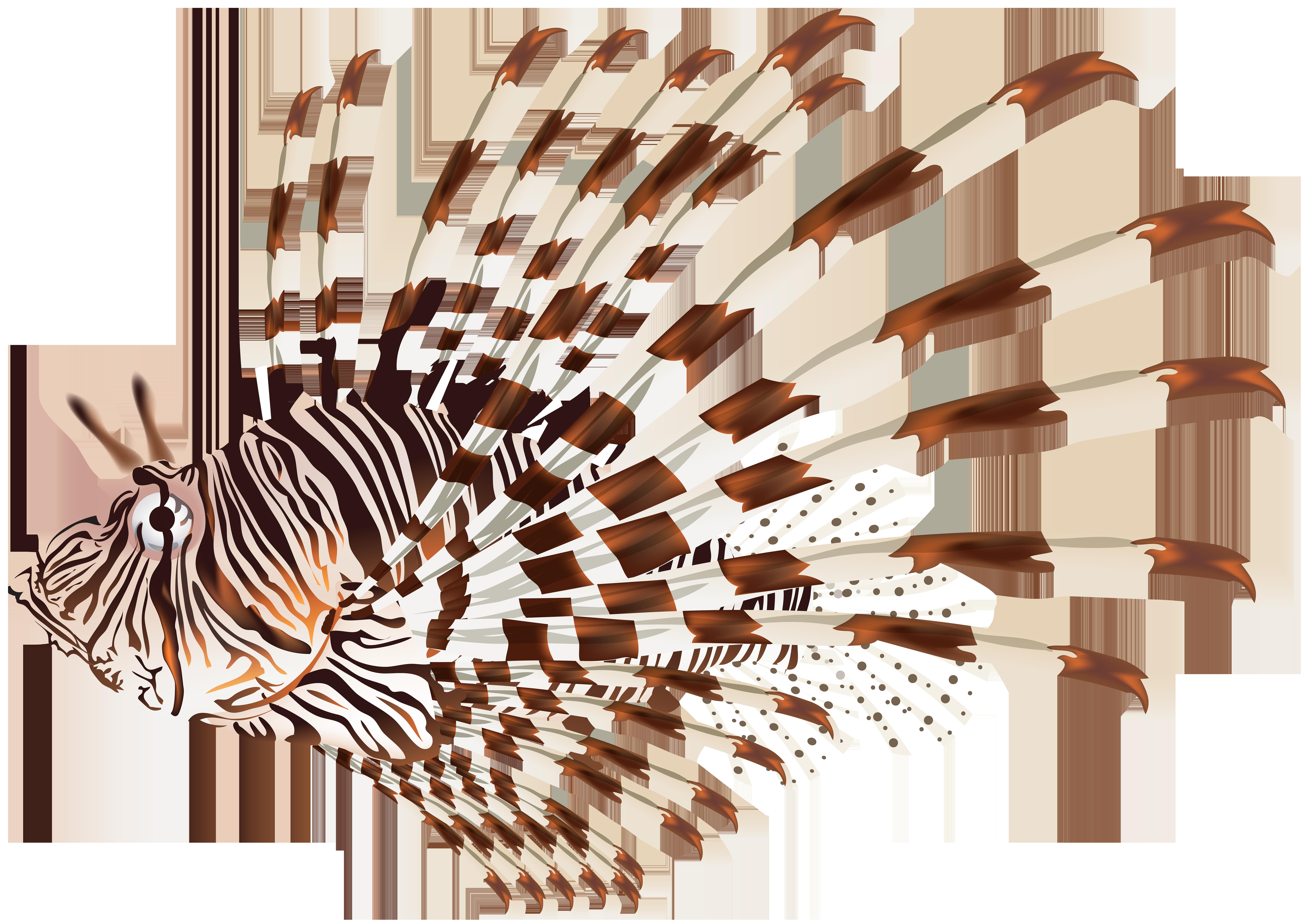 Lionfish PNG Transparent Clip Art Image.