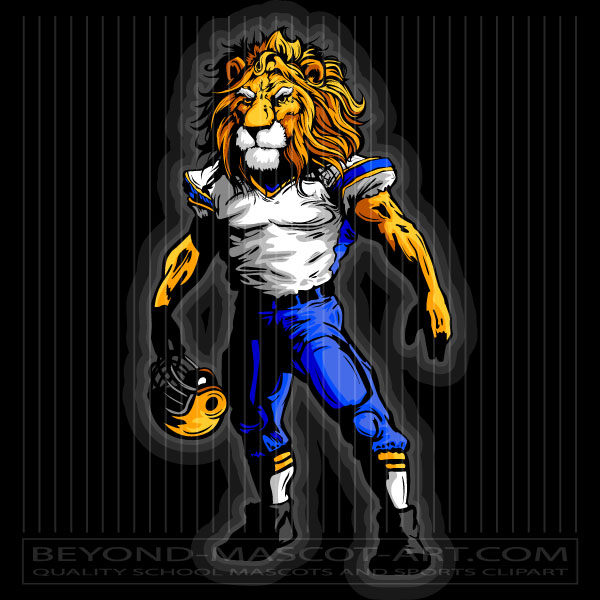 Football Clipart Lion Graphic Vector Football Image.