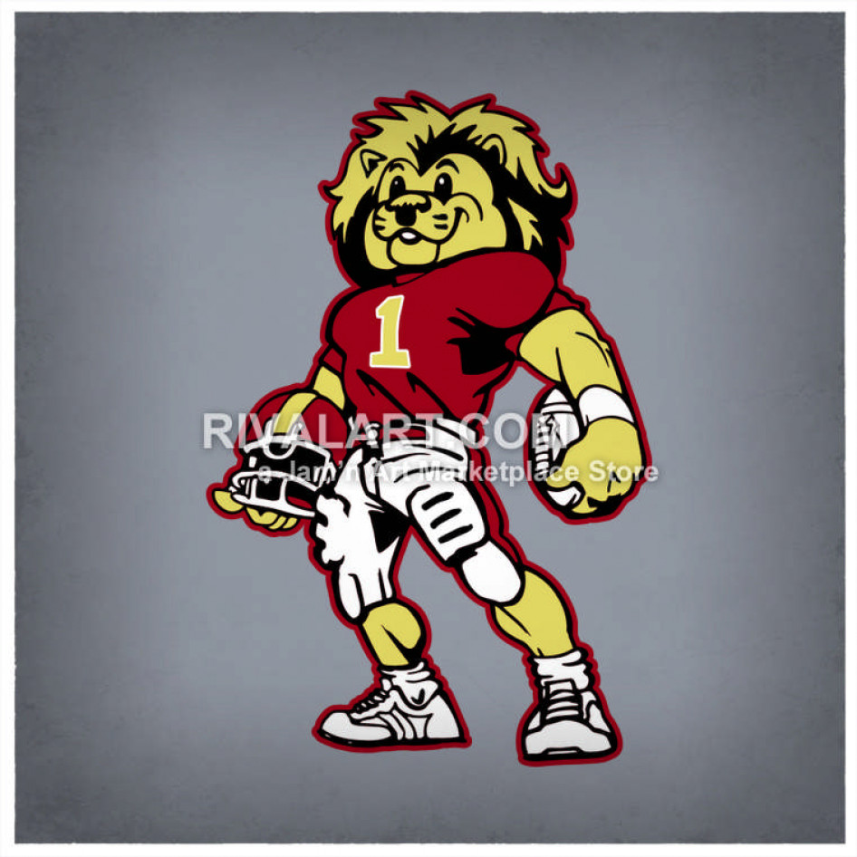 Color Football Player Lion.
